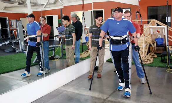 A prototype of the Indego exoskeleton developed at Vanderbilt's Center for Intelligent Mechatronics.