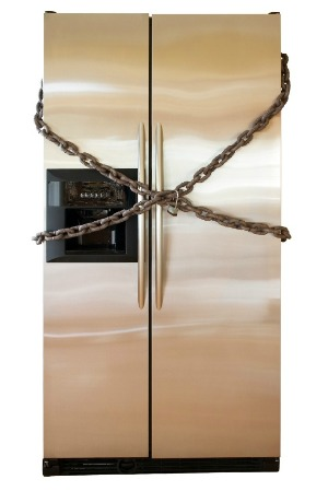 fridge with lock