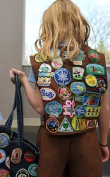 Girl Scout with patches