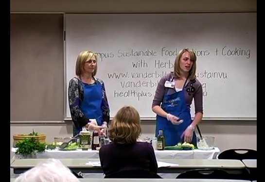 Green Bag Luncheon Series: Sustainable food choices offered by VU Dining; Cooking with herbs
