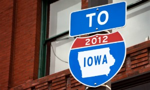 To Iowa 2012 roadsign