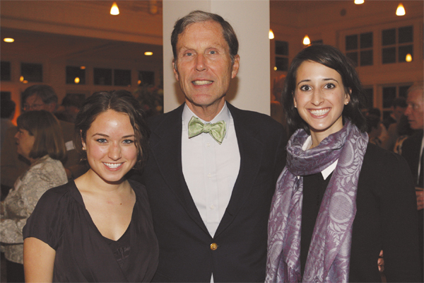 Charles Kurz with this year's Kurz Scholars, Kathryn Levene, '09, and Maeghan Wilson, '10.