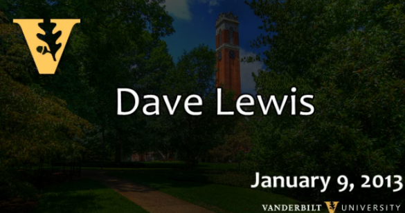 "Lunch and Learn: David Lewis ""What to Expect in Obama's Second Term"""