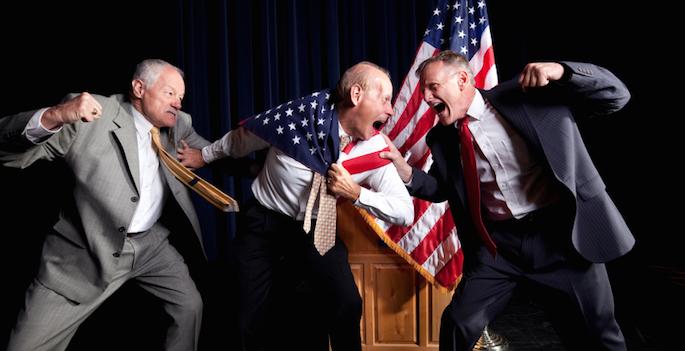 politicians brawl
