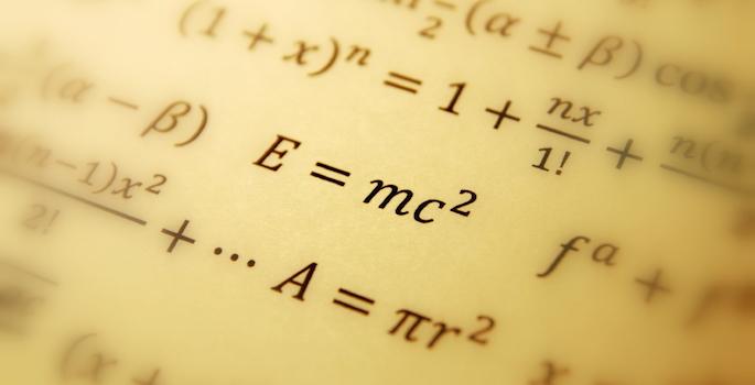 Photo of relativity equation