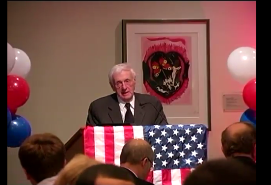 John Seigenthaler speaking at the First Amendment Center on the 220th anniversary of the Bill of Rights. (Vanderbilt University)
