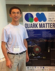 Shengli Huang attended the Quark Matter conference in Kobe (Victoria Greene / Vanderbilt)