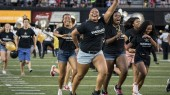 First-year students take the field at the annual Anchor Dash
