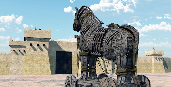 drawing of trojan horse