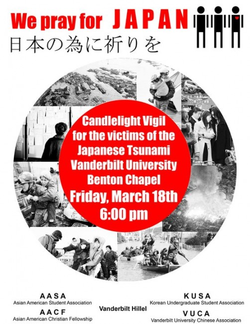 Vigil for disaster victims in Japan