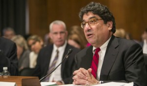 Chancellor Nicholas S. Zeppos testified before the Senate Health, Education and Labor Policy committee Feb. 24 with recommendations for improving federal regulation of higher education (Daniel Dubois / Vanderbilt)