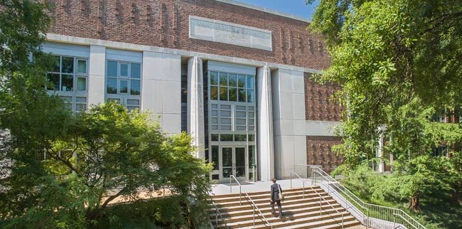 Photo of Vanderbilt Law School front door and stairs