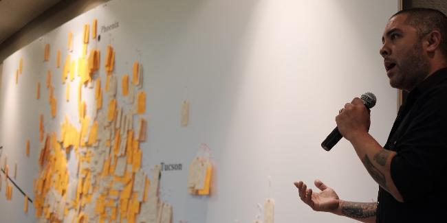 Jason De León, creator of the Hostile Terrain 94 exhibit and founder of the Undocumented Migration Project