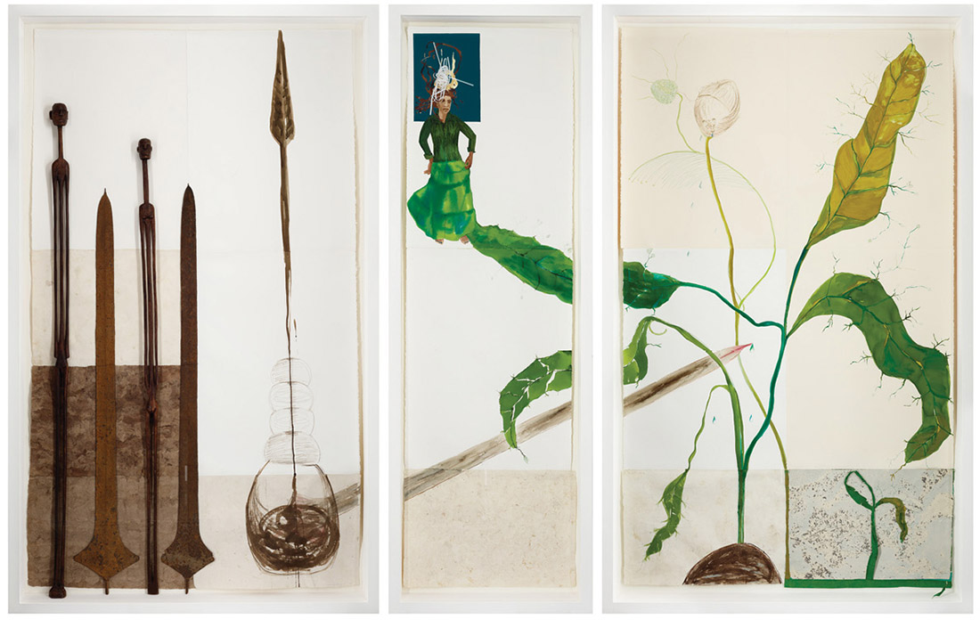 """Warrior Reservoir"""" by Cuban-born artist Maria Magdalena Campos-Pons is featured through April in an exhibit at the Peabody Essex Museum in Salem, Massachusetts."""