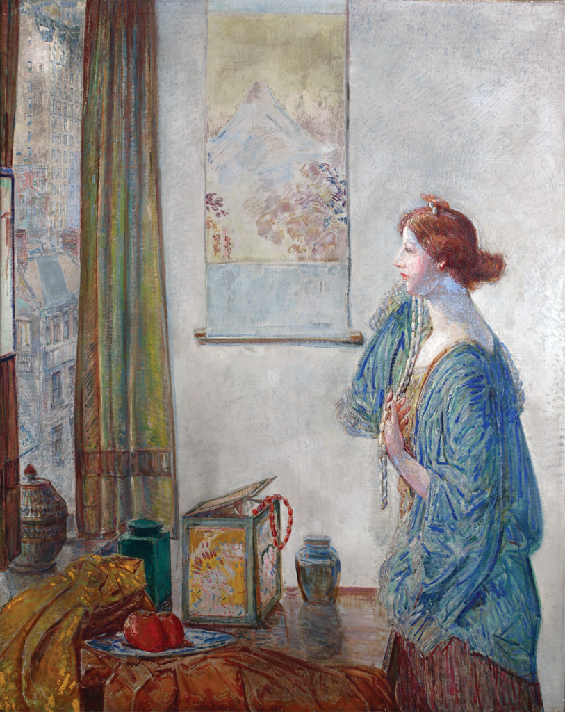 The Skyscraper Window (1934) by American painter Childe Hassam was loaned to Nashville's Frist Center for the Visual Arts for a 2000 exhibit.