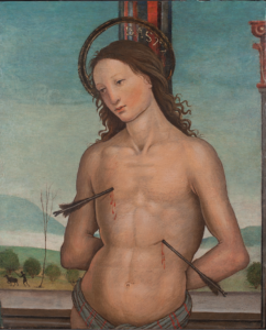 St. Sebastian (1510) by the master known as Pseudo Granacci, tempera with oil on panel, has been recently restored.