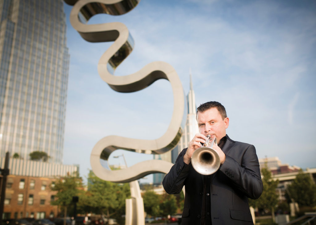 Costa Rica native Jose Sibaja, associate professor of trumpet