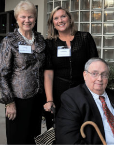 Dr. Arthur Booth, with his wife, Linda, and their daughter, Kimberly, at the Hospice Atlanta Center, to which Booth devoted so much of his time (HOSPICE ATLANTA)