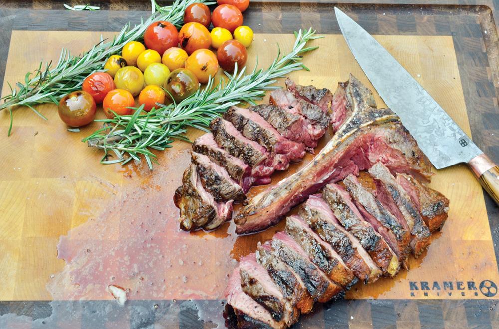photo of steak on a cutting board