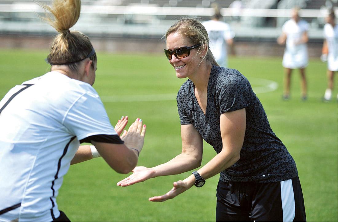 Cathy Swezey is celebrating two decades as head coach of women's lacrosse at Vanderbilt. (JOE HOWELL)