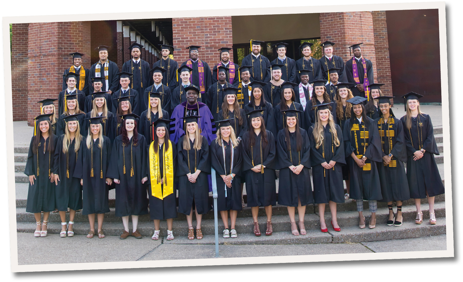 photo of members of the May 2018 graduating class of student-athletes
