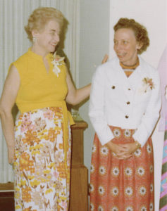 Fran Hardie, right, and Eleanor Morrissey at a Vanderbilt library event in the 1970s (VANDERBILT SPECIAL COLLECTIONS)
