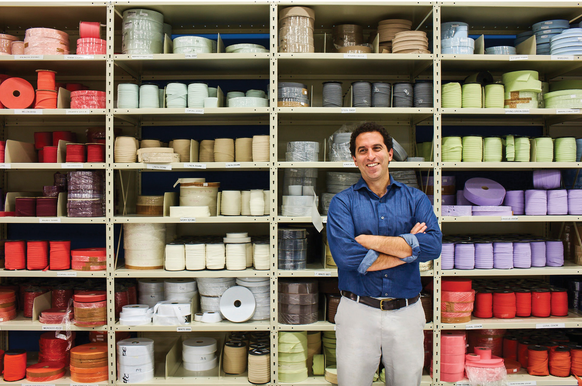 George Matouk is CEO of John Matouk & Co. Inc., a third-generation, family-owned luxury linens company in Massachusetts that is successfully bucking the trend of overseas production and putting its employees first. (JOE SCHMELZER FOR ONE KINGS LANE)