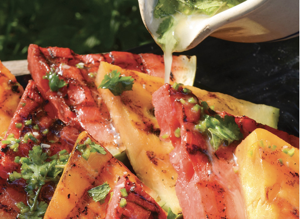 photo of grilled watermelon