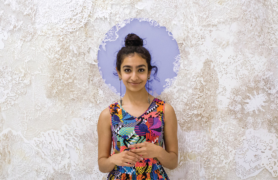 Vibhuti Krishna took home the art department's coveted Hamblet Award for 2016--including $25,000 for a year of research and travel--for her winning art installation. Photo by Julia Ordog, BA'16