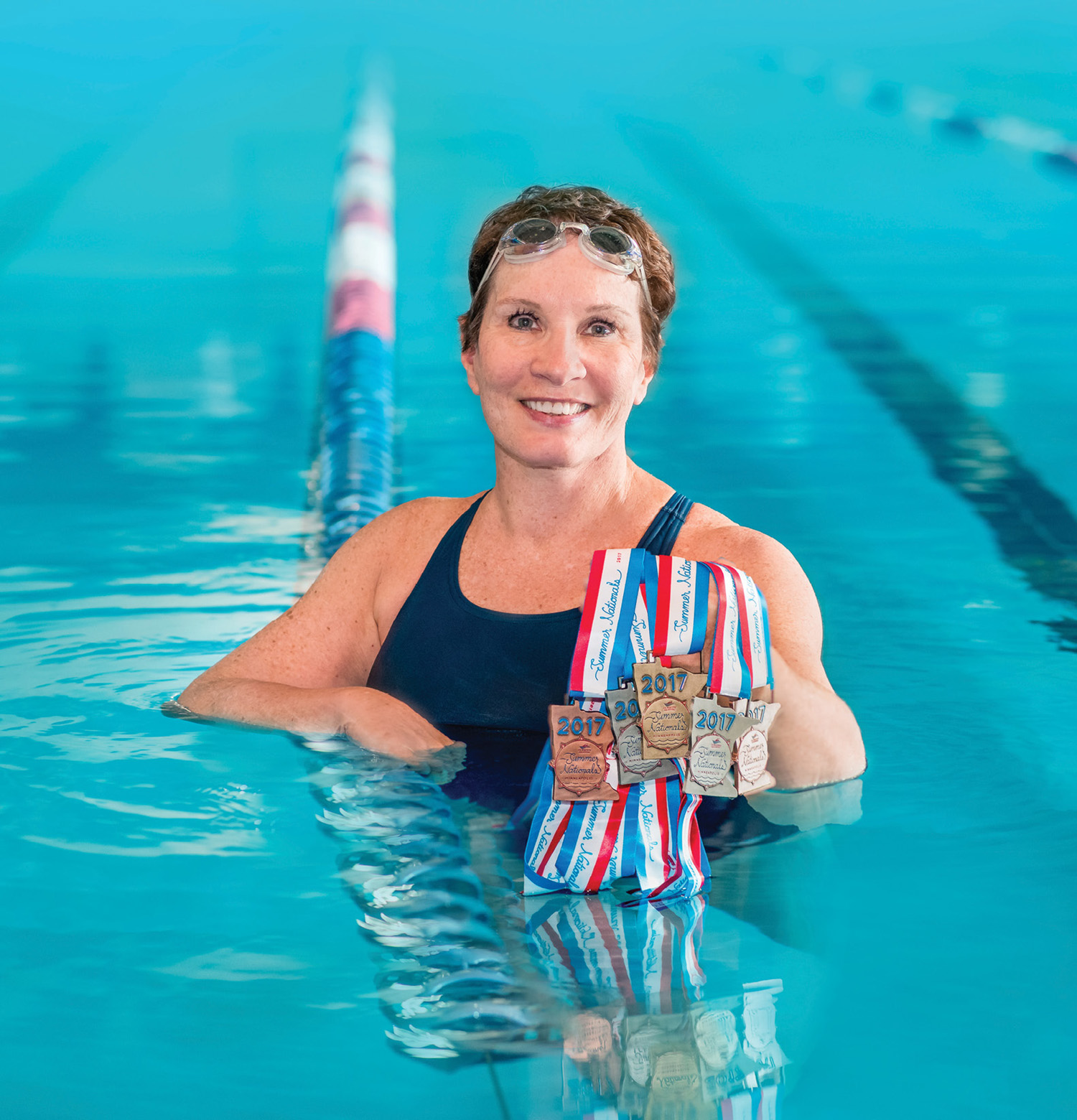 photo of Jan Hildebrandt in a swimming pool
