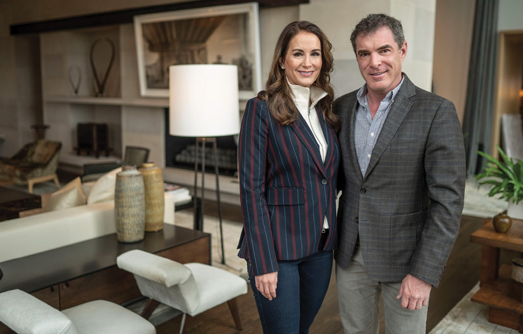 photo of Jennifer and Billy Frist at home