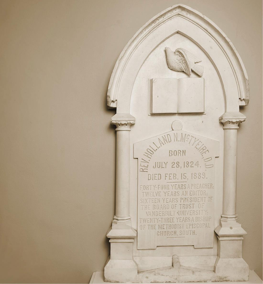 Photo of McTyeire tombstone