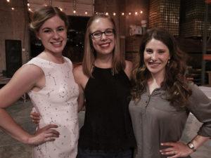 Blair alumnae (left to right) Charlotte Ulrich, Erin Ridge and Lindsay Cunningham created the Nashville chapter of Opera on Tap. Photo by Nduka Onwuzuruigbo
