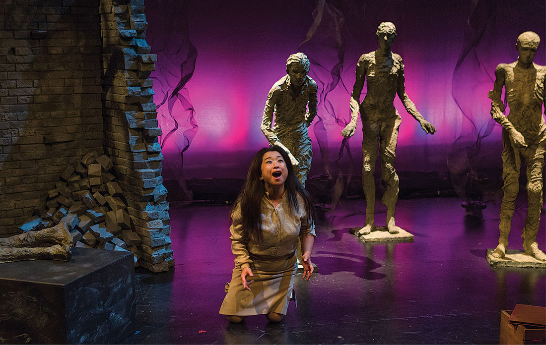 """The New York Times called soprano Ah Young Hong (above) """"the opera's blazing, lone star"""" in their review of On the Threshold of Winter. She will reprise the role at Vanderbilt."""
