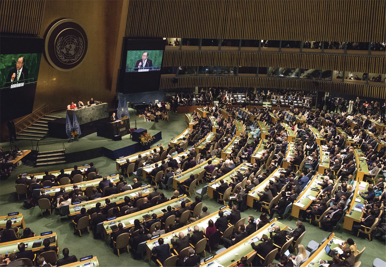 Leaders from around the world gathered in April 2016 at UN Headquarters in New York City to sign the Global Climate Agreement resulting from the COP21 conference in Paris the previous year. (ALBIN LOHR-JONES/PACIFIC PRESS/LIGHTROCKET VIA GETTY IMAGES)
