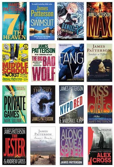 Although thrillers have been his bread and butter, worldwide best-seller James Patterson has written love stories, historical fiction, nonfiction, three different series of award-winning novels for young adults, and two books (so far) especially for middle-schoolers.