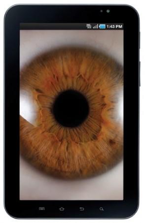 Smartphone with photo of eyeball