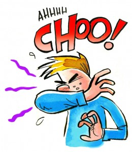 Sneeze-elbow