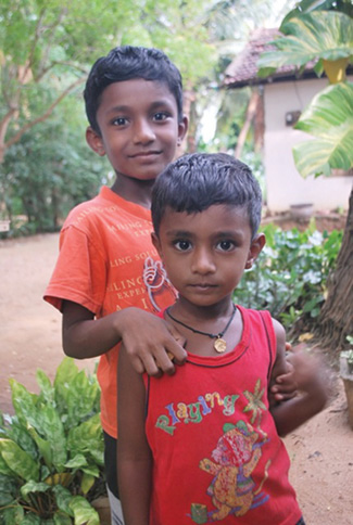 Photo of two Sri Lankan boys
