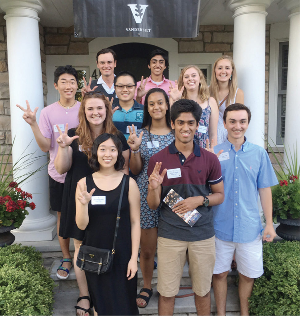 Incoming Vanderbilt students gathered this summer for send-off parties near Minneapolis (above) and Baltimore (below)—as well as in 45 other cities nationwide—for a grand welcome to the Vanderbilt community.
