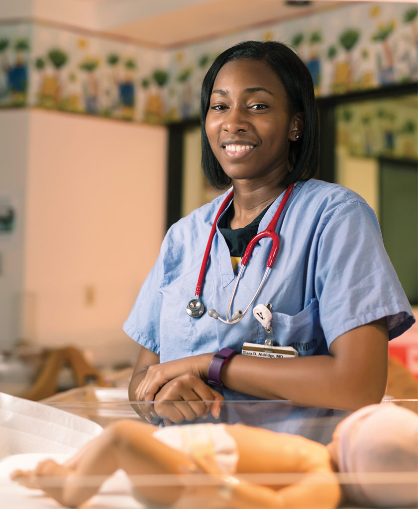 Dr. Tiara Aldridge was able to pursue a Vanderbilt education—and achieve her lifelong dream of becoming a physician—thanks in part to the Levy Scholarship. (JOE HOWELL)