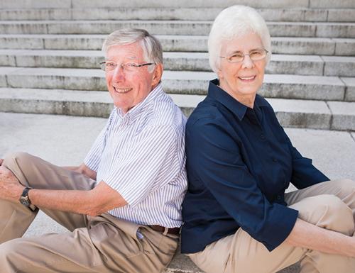 Charles Brau and Virginia Shepherd, photo by Susan Urmy
