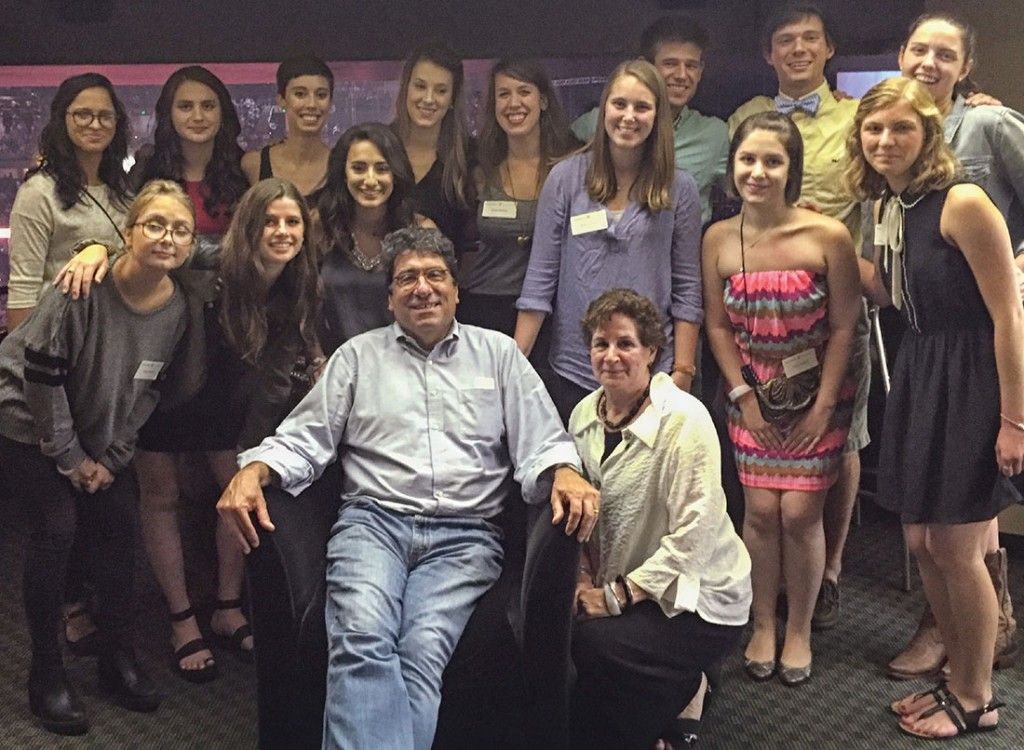 Chancellor Zeppos and his wife, Lydia Howarth, at the concert with the contest winners and their guests