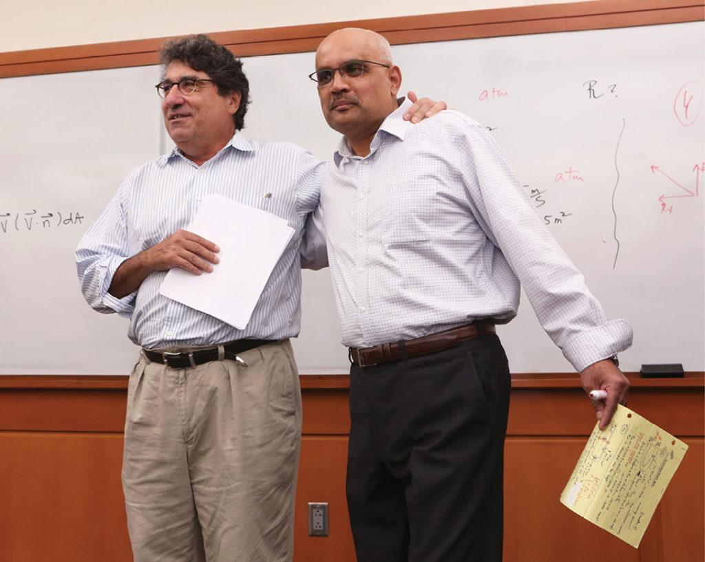 photo of Chancellor Zeppos and Professor Anilkumar
