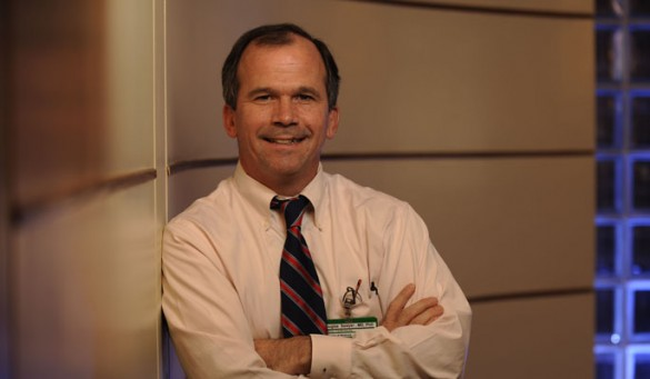 Doug Sawyer, M.D., Ph.D., is stepping down as director of the Division of Cardiovascular Medicine. (Photo by Joe Howell)