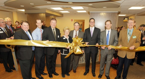 Officials cut the ribbon Tuesday to commemorate the opening of the Vanderbilt Eye Institute's newly expanded practice in Franklin, now called VEI Williamson County. (photo by Steve Green)