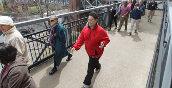 The Vanderbilt community observes National Walking Day on April 3. (Steve Green/Vanderbilt)