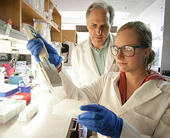 Jonathan Haines and his colleagues at Vanderbilt are part of a global collaboration to discover and map all genes relating to Alzheimer's disease. (Daniel Dubois / Vanderbilt University)