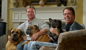 Faculty members Gerald Greer and Scott Hoffman have a houseful of 20 dogs, and are trying to find homes for dozens more