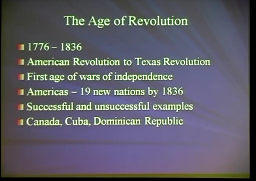The Americas in the Age of Revolution, 1776-1836 (part 1)